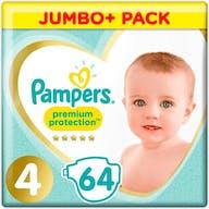 Pampers Premium Protection Luiers Maat 4 - 64 Luiers Voordeelverpakking