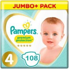 Pampers Premium Protection Maat 4 - 108 Luiers