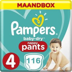 Pampers Baby Dry Pants Maat 4 - 116 Luierbroekjes Maandbox