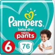 Pampers Baby Dry Nappy Pants Große 6 - 76 Windelhosen