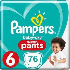 Pampers Baby Dry Nappy Pants Maat 6 - 76 Luierbroekjes