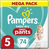 Pampers Baby Dry Pants Maat 5 - 74 Luierbroekjes