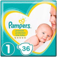 Pampers Premium Protection New Baby Windeln Große 1 - 36 Windeln