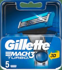 Gillette Mach3 Turbo Mesjes- 5 stuks 3D