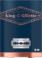 Gillette King C. Double Edge Rasierklingen 10 Stück
