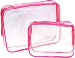 durchsichtige-rosa-toilettentasche-2-teilig