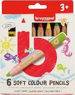 Bruynzeel Kleurpotloden Soft 6st 3+