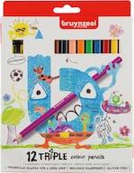 Bruynzeel Kleurpotloden Triple 12st 4+