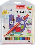 Bruynzeel Viltstiften 12st. 4+