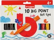 Bruynzeel Viltstiften Big Point 10st 4+