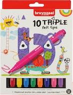 Bruynzeel Viltstiften Triple 10st 4+