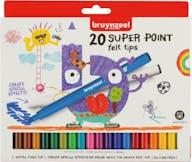 Bruynzeel Viltstiften Super Point 20st 5+
