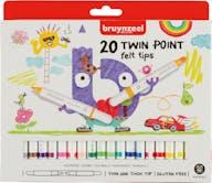 Bruynzeel Viltstiften Twin Point 20st 5+