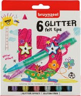 Bruynzeel Viltstiften Glitter 6st 5+