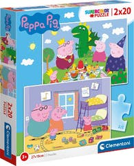 Clementoni Peppa Pig Puzzel 2x20st