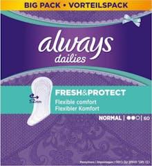 Always Inlegkruisjes Dailies Fresh & Protect Normal 60 Stuks