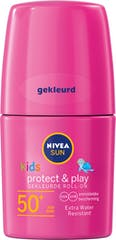 Nivea Sun Kids Protect & Play Hydraterende Roll On Roze SPF 50+ - 50 ml
