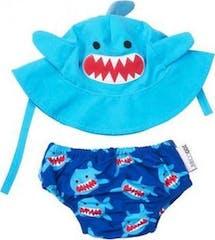 Zoocchini Zwemluier Set Large Shark
