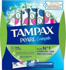 Tampax Tampons Compak Pearl Super 18 stuks