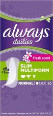 Always Dailies Inlegkruisjes Slim Multiform Normal 40 Stuks