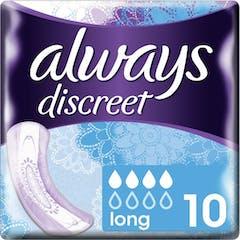 Always discreet damenbinden long 10 stuck
