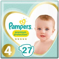 Pampers Premium Protection Luiers Maat 4 - 27 Luiers
