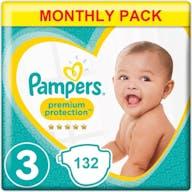 Pampers Premium Protection Luiers Maat 3 - 132 Luiers Maandbox