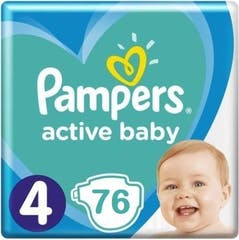 Pampers Active Baby Maat 4 - 76 Luiers