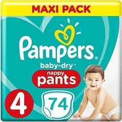 Pampers Baby Dry Pants maat 4 - 74 Luierbroekjes