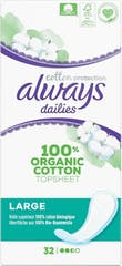 Always Dailies Inlegkruisjes Bio Cotton - Large - 33 stuks