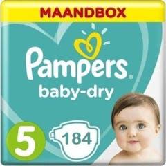 Pampers Baby Dry Maat 5 - 184 Luiers Maandbox