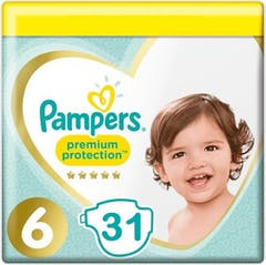 Pampers Premium Protection Große 6 - 31 Windeln
