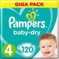 Pampers Baby Dry Luiers Maat 4 -120 Luiers Voordeelverpakking