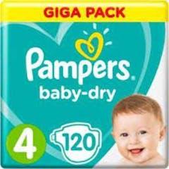 Pampers Baby Dry Maat 4 -120 Luiers
