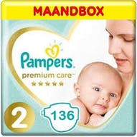 Pampers Premium Care Maat 2- 136 Luiers Maandbox