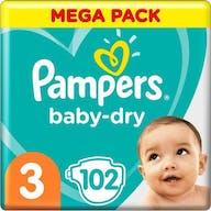Pampers Baby Dry Windeln Große 3 - 102 Windeln Mega Pack