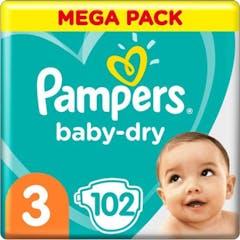 Pampers Baby Dry Maat 3-102 Luiers