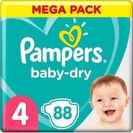 Pampers Baby Dry Luiers Maat 4 - 88 Luiers