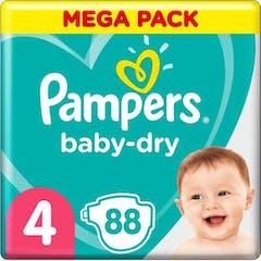 Pampers Baby Dry Maat 4-88 Luiers