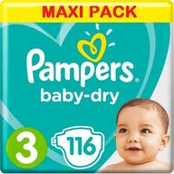 Pampers Baby Dry Luiers Maat 3 - 116 Luiers Voordeelverpakking