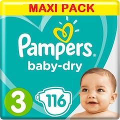 Pampers Baby Dry Maat 3 - 116 Luiers