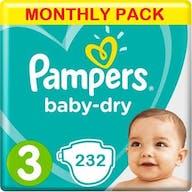 Pampers Baby Dry Luiers Maat 3 - 232 Luiers Maandbox