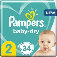 Pampers Baby Dry Luiers Maat 2 - 34 Luiers