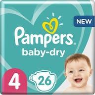Pampers Baby Dry Luiers Maat 4 - 26 Luiers