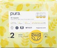 Pura Eco-Friendly Luiers Maat 2 (3-6kg), 152 luiers