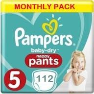 Pampers Baby Dry Pants Maat 5 - 112 Luierbroekjes Maandbox
