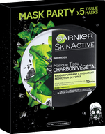 Garnier SkinActive Masker 5pak Charcoal