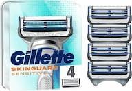 Gillette SkinGuard Sensitive Scheermesjes 4 Navulmesjes