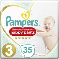 Pampers Premium Protection Pants Große 3 - 35 Windelhosen