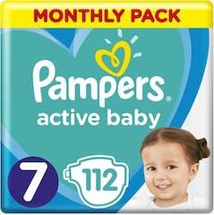 Pampers Active Baby Maat 7 - 112 Luiers Maandbox